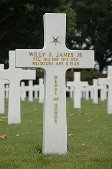 Private First Class Willy F. James, Medal of Honor Recipient